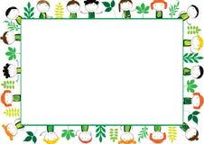 Kids frame stock illustration