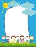 Kids frame Stock Image
