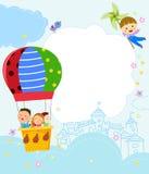 Kids and frame. Illustration of kids and frame Stock Images