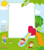 Kids and Frame Royalty Free Stock Photo