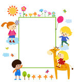 Kids frame Royalty Free Stock Image