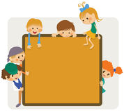 Kids frame notice Stock Photo