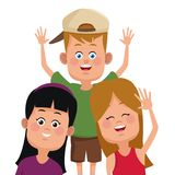 Kids friends cartoon. Icon vector illustration graphic design Royalty Free Stock Images