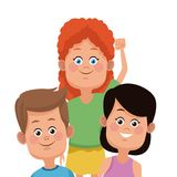 Kids friends cartoon. Icon vector illustration graphic design Stock Photos