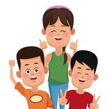 Kids friends cartoon. Icon vector illustration graphic design Stock Image