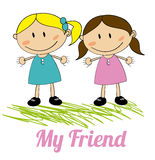 Kids friends design Stock Images