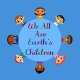 Kids friendship concept vector illustration
