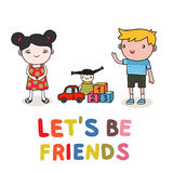 Kids friendship Royalty Free Stock Photos