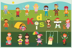 Kids fun activities Stock Images
