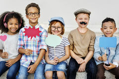 Kids Fun Children Playful Happiness Retro Togetherness Concept Royalty Free Stock Photo