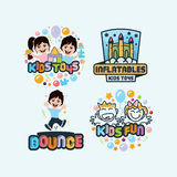 Kids Fun Logo Set royalty free illustration