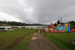Fun in Nuwara Eliya Sri Lanka. A kids Fun in Nuwara Eliya Sri Lanka Royalty Free Stock Photos