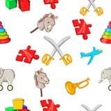 Kids fun pattern, cartoon style Royalty Free Stock Photo