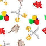 Kids fun pattern, cartoon style Stock Photos