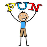 Kids Fun Represents Cheerful Jubilant And Children Royalty Free Stock Photo
