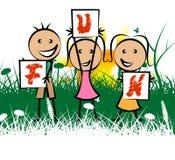 Kids Fun Represents Free Time And Enjoy Royalty Free Stock Photo