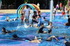 Kids fun at Water Park Royalty Free Stock Photos