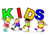 Kids funny illustration Royalty Free Stock Image