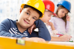 Kids future engineers Royalty Free Stock Photo