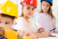 Kids future engineers stock images