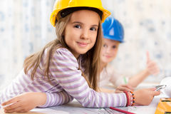 Kids future engineers. Beautiful Kids future engineers picture Stock Photography