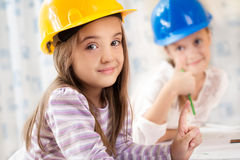 Kids future engineers. Beautiful Kids future engineers picture Royalty Free Stock Images