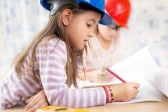 Kids future engineers. Beautiful Kids future engineers picture Stock Photo