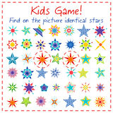 Kids game with colorful cartoon stars Stock Images