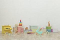 Kids game room interior image. 3D Rendering Royalty Free Stock Image