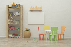 Kids game room interior image. 3D Rendering Stock Photography