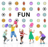 Kids Games Ball Sport Graphics Concept Royalty Free Stock Photography