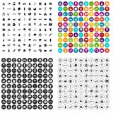 100 kids games icons set vector variant. 100 kids games icons set vector in 4 variant for any web design isolated on white Stock Photography