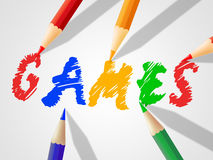 Kids Games Indicates Child Childhood And Drawing. Kids Games Meaning Play Time And Gaming Royalty Free Stock Image