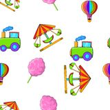 Kids games pattern, cartoon style Royalty Free Stock Photos