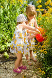 Kids in the garden Stock Image