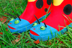Kids Gardening Boots Royalty Free Stock Image