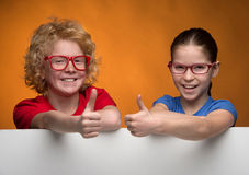 Kids gesturing. Stock Images