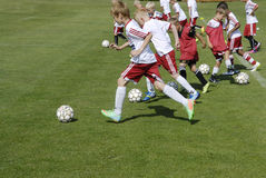 KIDS AT GET2SPORT Royalty Free Stock Photography