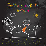 Kids getting back to nature Royalty Free Stock Photography