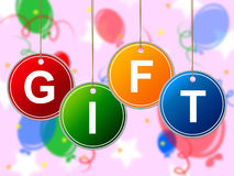 Kids Gift Means Giving Children And Youth Stock Photo