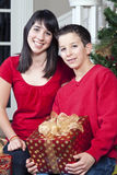 Kids with Gifts Royalty Free Stock Images