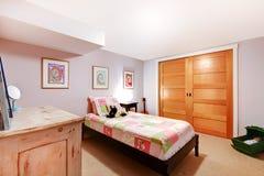 Kids girl bedroom in pinnk. Royalty Free Stock Photos