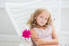 Kids Girl Blue Eyes Cute Royalty Free Stock Photography