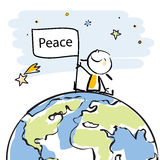 Kids global peace Royalty Free Stock Image