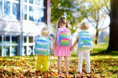 Kids go back to school. Child at kindergarten. Royalty Free Stock Image