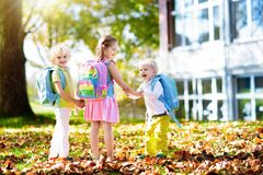 Kids go back to school. Child at kindergarten. Stock Photography