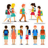 Kids going to school Stock Photography