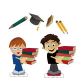 Kids going to school Royalty Free Stock Photography