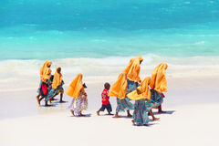 Kids going to school in Zanzibar Royalty Free Stock Photography