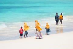 Kids going to school in Zanzibar Stock Photo
